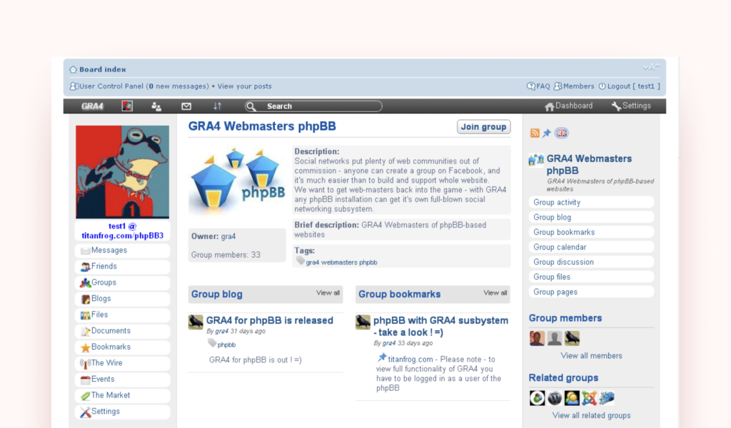 phpBB open-source solution