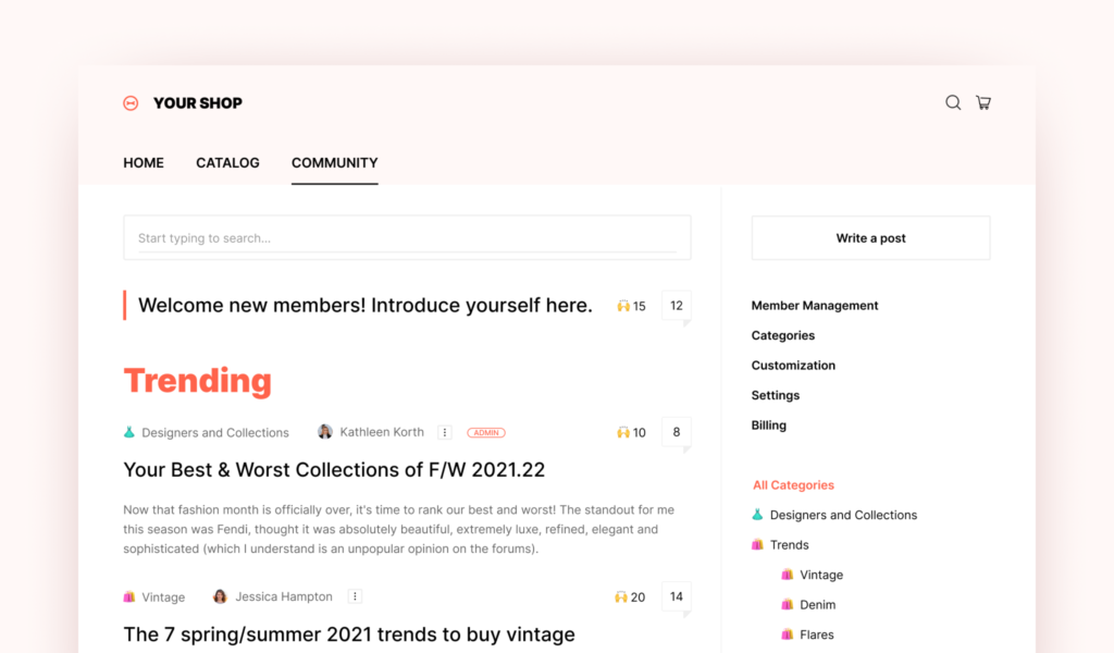 PeerBoard_forum_and_community_for_Shopify